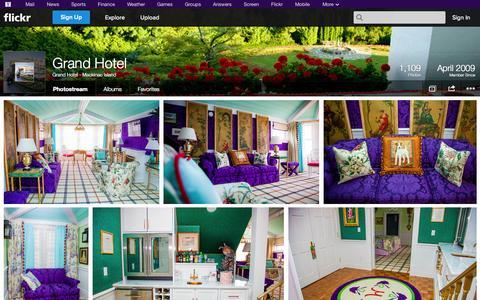 Screenshot of Flickr Page flickr.com - Flickr: Grand Hotel - Mackinac Island's Photostream - captured Oct. 22, 2014