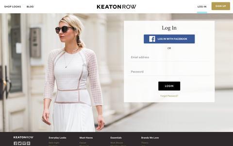 Screenshot of Login Page keatonrow.com - Login | Keaton Row - captured Oct. 1, 2015