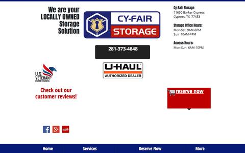 Screenshot of Testimonials Page cy-fairstorage.com - Cypress Storage Units - Climate Controlled - captured May 24, 2017