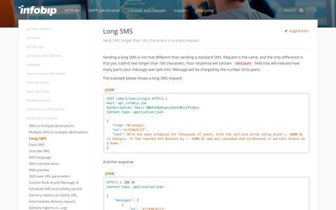 Long SMS · SMS API | Infobip