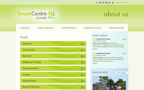Screenshot of Team Page greencentrecanada.com - People - captured Sept. 30, 2014