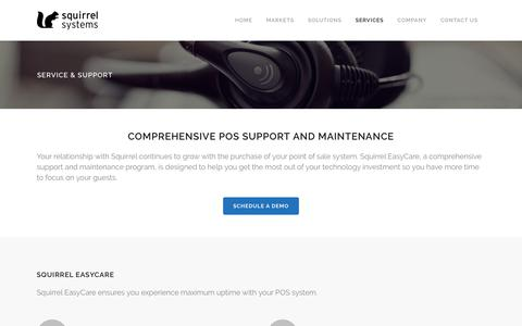 Screenshot of Services Page squirrelsystems.com - Squirrel Systems | Squirrel Support - captured July 1, 2017