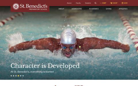 Screenshot of Home Page sbp.org - Home - St. Benedict's Prep - captured Nov. 9, 2017