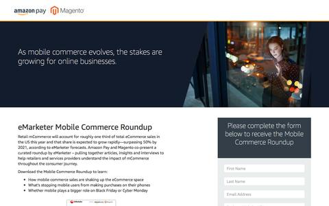 Screenshot of Landing Page amazon.com - Amazon Pay and Magento Mobile Commerce Roundup - captured March 5, 2018