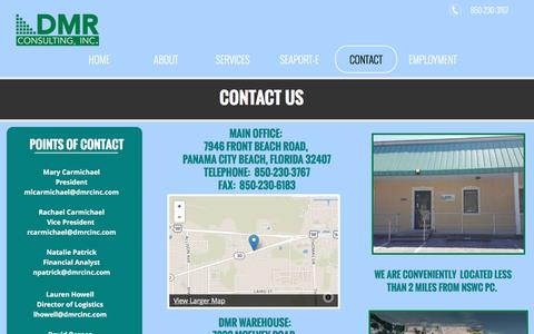 Screenshot of Contact Page dmrcinc.com - Contact | DMR Consutling, Inc | Panama City Beach - captured Nov. 28, 2016