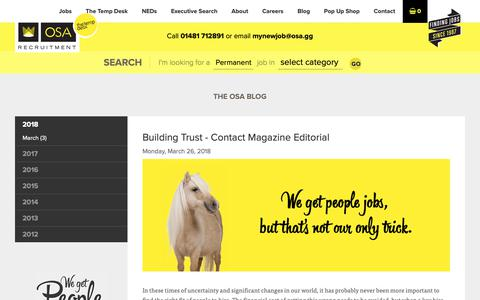 Screenshot of Blog osa.gg - OSA Recruitment : The OSA Blog - captured Oct. 19, 2018