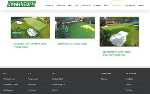 Screenshot of Case Studies Page intelliturf.com - Case Studies - Synthetic Grass Installations - IntelliTurf - captured Oct. 15, 2017