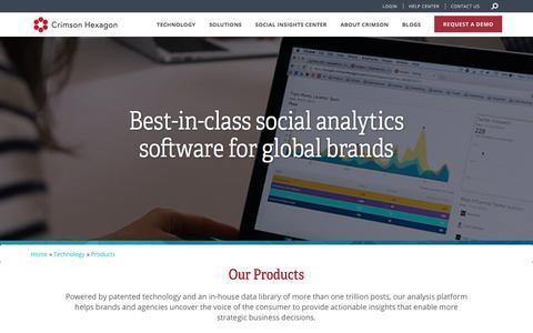 Social Analytics Software | Crimson Hexagon