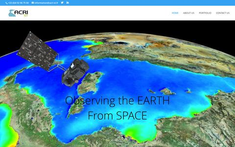 Screenshot of Home Page acri-st.fr - ACRI-ST | Observing the Earth from Space: from data to environmental information - captured July 23, 2016