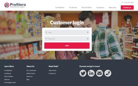 Screenshot of Login Page profitero.com - Login into Profitero price intelligence and competitor monitoring service. - captured Sept. 17, 2014