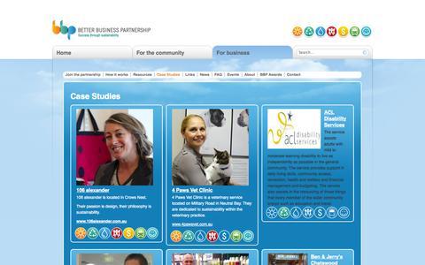 Screenshot of Case Studies Page betterbusinesspartnership.com.au - Case Studies | Better Business Partnership - captured Sept. 30, 2014