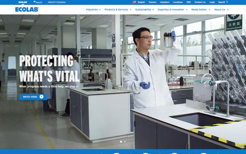 Screenshot of Home Page ecolab.com - Ecolab.com | Ecolab - captured Sept. 30, 2014