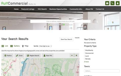 Screenshot of Maps & Directions Page aultcommercial.com - Ault Commercial Realty, Inc. - captured Oct. 9, 2017