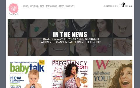 Screenshot of Press Page ringmyneck.com - In The News | ringmyneck - captured Nov. 5, 2014