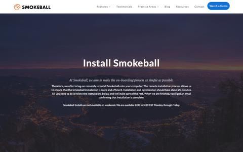 Install Smokeball | Smokeball Legal Case Management Software
