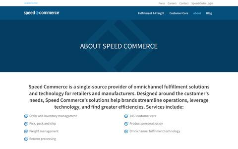 Screenshot of About Page speedcommerce.com - About Speed Commerce - SpeedCommerce - captured June 15, 2017