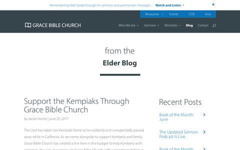 Screenshot of Blog gbcaz.org - Blog - Grace Bible Church - captured Sept. 6, 2017