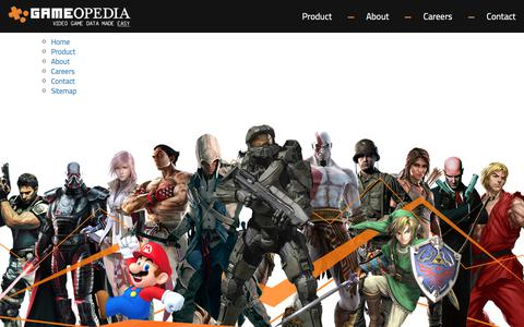 Screenshot of Site Map Page gameopedia.com - Big Data in the Video Game Industry - Gameopedia - captured Sept. 27, 2018
