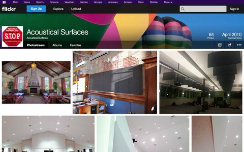 Screenshot of Flickr Page flickr.com - Flickr: Acoustical Surfaces' Photostream - captured Nov. 2, 2014