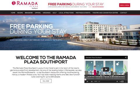 Screenshot of Home Page ramadaplazasouthport.co.uk - Southport Plaza Ramada - captured Jan. 10, 2016