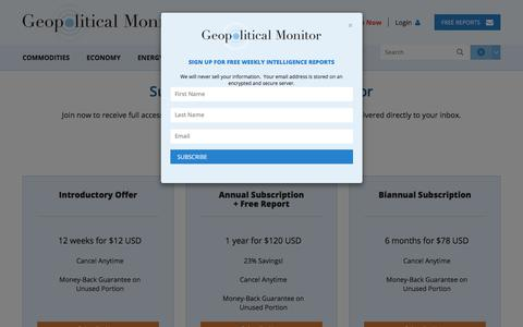 Screenshot of Signup Page geopoliticalmonitor.com - Join | Geopolitical Monitor - captured Feb. 3, 2018