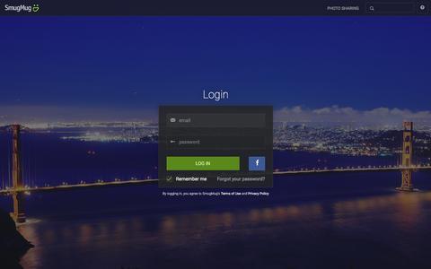 Screenshot of Login Page smugmug.com - Photo Sharing. Your Photos Look Better Here. - captured Feb. 10, 2016