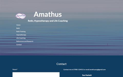 Screenshot of Contact Page amathus.org - Contact - captured July 29, 2018