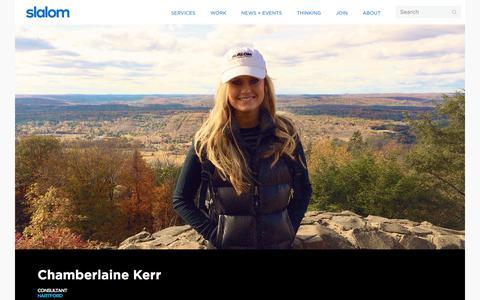 Screenshot of Team Page slalom.com - Chamberlaine Kerr | Slalom - captured Jan. 20, 2018