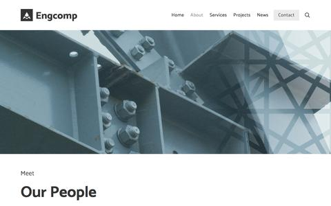 Screenshot of Team Page engcomp.ca - Meet Our People — Engcomp. Stay Curious. - captured July 15, 2018
