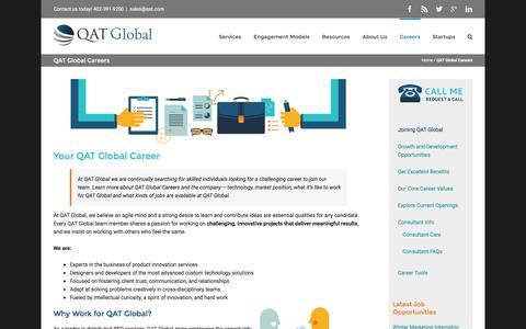 Screenshot of Jobs Page qat.com - QAT Global Careers - captured Jan. 23, 2016