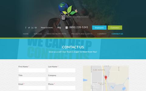 Screenshot of Contact Page akenergy.com - Contact Us - AK Energy - captured Sept. 17, 2017