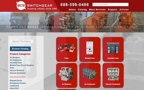 Screenshot of Home Page bcsswitchgear.com - Home - BCS Switchgear Repair, Reconditioning, Refurbishing - captured Nov. 13, 2018