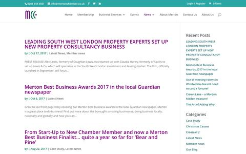 Screenshot of Press Page mertonchamber.co.uk - Latest News Archives - Merton Chamber of Commerce - captured Oct. 18, 2017