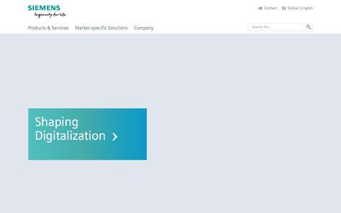Screenshot of Products Page siemens.com - Home - English - Siemens Global Website - captured Dec. 6, 2016