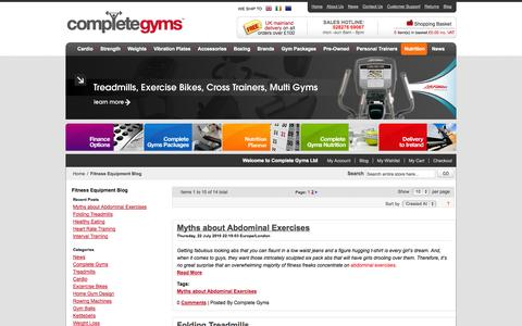 Screenshot of Press Page completegyms.com - Fitness Equipment Blog - captured Sept. 30, 2014
