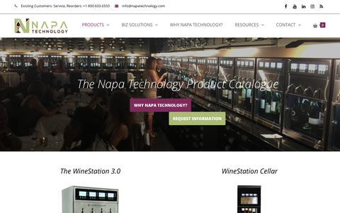 Screenshot of Products Page napatechnology.com - The Napa Technology Product Catalog - captured July 20, 2019