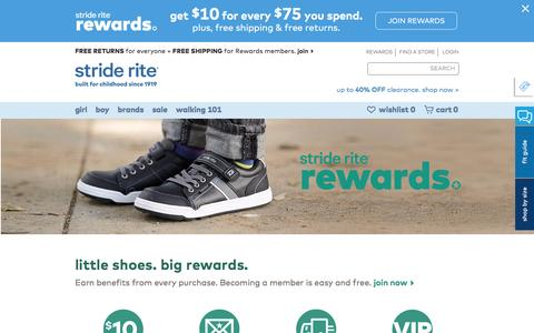 Screenshot of Signup Page striderite.com - About Rewards | Stride Rite - captured Dec. 25, 2016