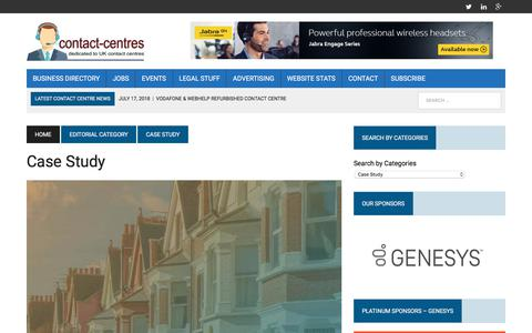Screenshot of Case Studies Page contact-centres.com - Case Study Archives - Contact-Centres.com - captured July 24, 2018