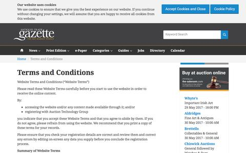 Screenshot of Terms Page antiquestradegazette.com - Terms and Conditions | Antiques Trade Gazette - captured May 30, 2017