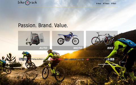 Screenshot of Home Page bikenrack.com - Bike N  Rack | - captured Sept. 30, 2014