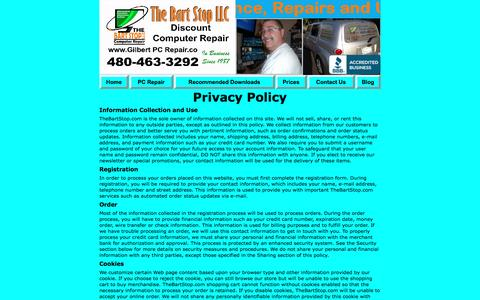 Screenshot of Privacy Page gilbertpcrepair.co - Privacy Policy Of Computer Service Technician / Phoenix Metro Area - captured Jan. 22, 2017