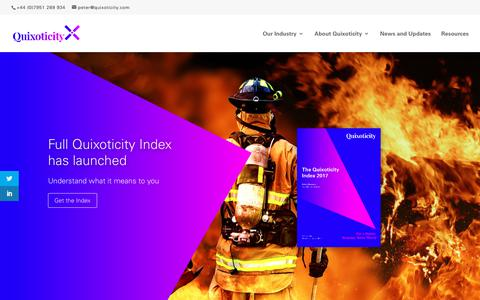 Screenshot of Home Page quixoticity.com - Quixoticity | See the world differently - captured July 25, 2018
