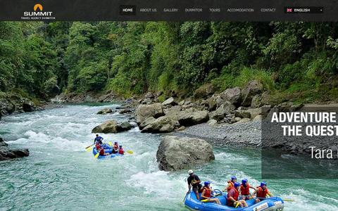 Screenshot of Home Page summit.co.me - Summit  - travel agency - captured Jan. 26, 2015