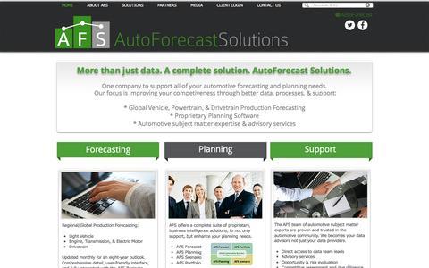 Screenshot of Home Page autoforecastsolutions.com - AutoForecast Solutions - captured Oct. 9, 2017