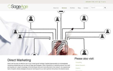 Screenshot of sageagestrategies.com - Direct Marketing | Sage Age Strategies - captured June 23, 2017