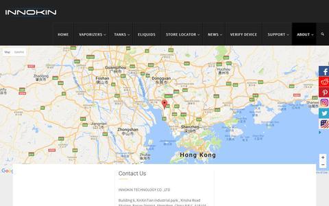 Screenshot of Contact Page innokin.com - Contact Us - Innokin - captured Nov. 26, 2016