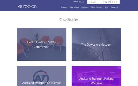 Screenshot of Case Studies Page europlan.co.nz - Case Studies - Europlan - captured Aug. 29, 2017