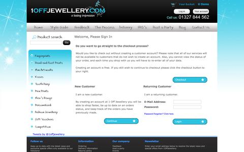 Screenshot of Login Page 1offjewellery.co.uk - Login : 1 Off Jewellery - captured March 1, 2016
