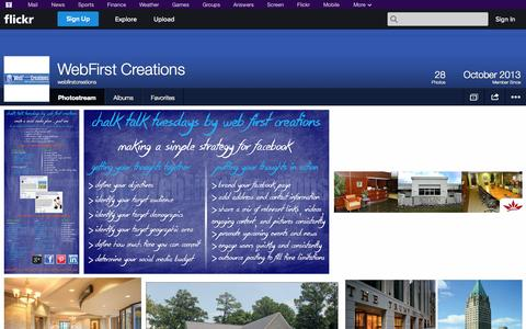Screenshot of Flickr Page flickr.com - Flickr: webfirstcreations' Photostream - captured Oct. 26, 2014