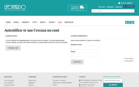 Screenshot of Login Page leonardo.com.ro - Autentificare client - captured Oct. 27, 2014